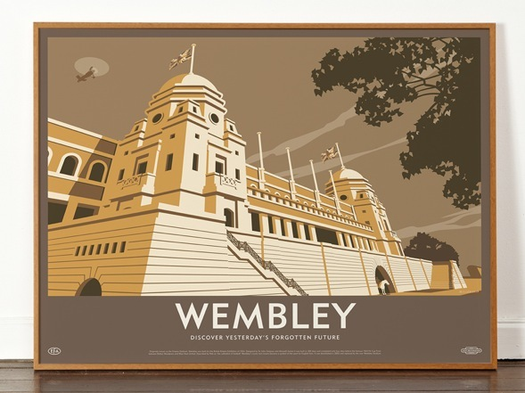 Artful Prints Conjure Up Lost Football Stadiums