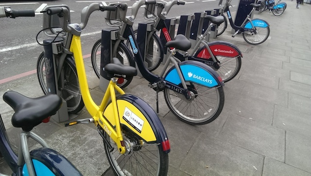 Three Colours Ped: A Trio Of Different Boris Bikes In One Photo
