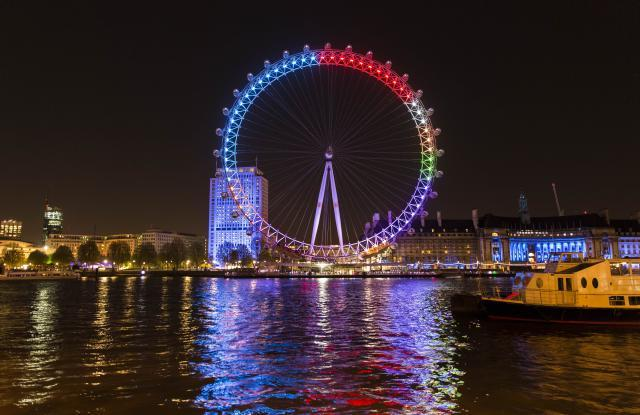 London Eye Turns Into A Big Election Chatter Pie Chart