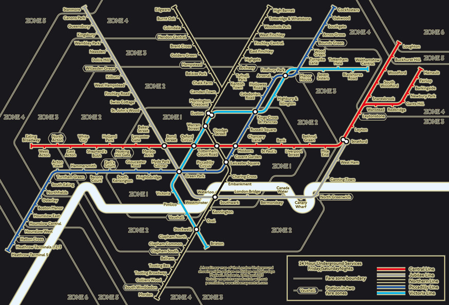 Hey, TfL, We Like This Idea For The Night Tube Map