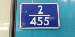 What Are The Blue And White Numbered Signs At Tube Stations?