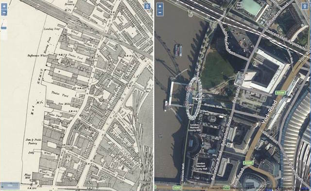 Compare Detailed Historic Maps With Today's London