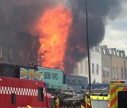 Major Fire On Hackney Road
