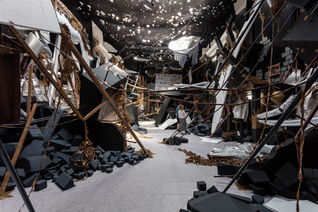 Unsettling 'Bomb Site' Appears In Camberwell Gallery