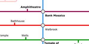 A Tube Map Of Roman London