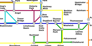 The London Walker's Tube Map