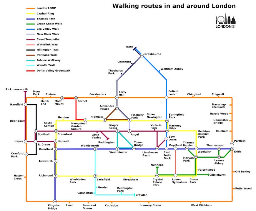 The London Walker's Tube Map