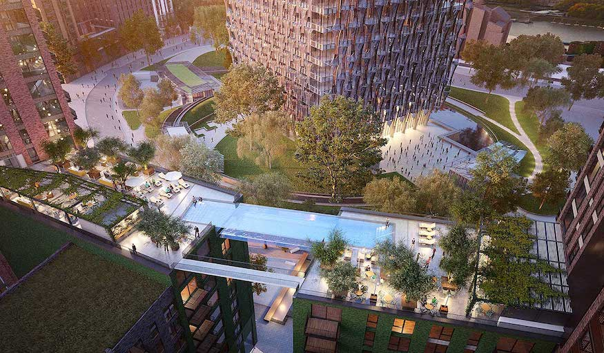 A swimming pool in the sky london to get world 39 s first - Apartments with swimming pool london ...