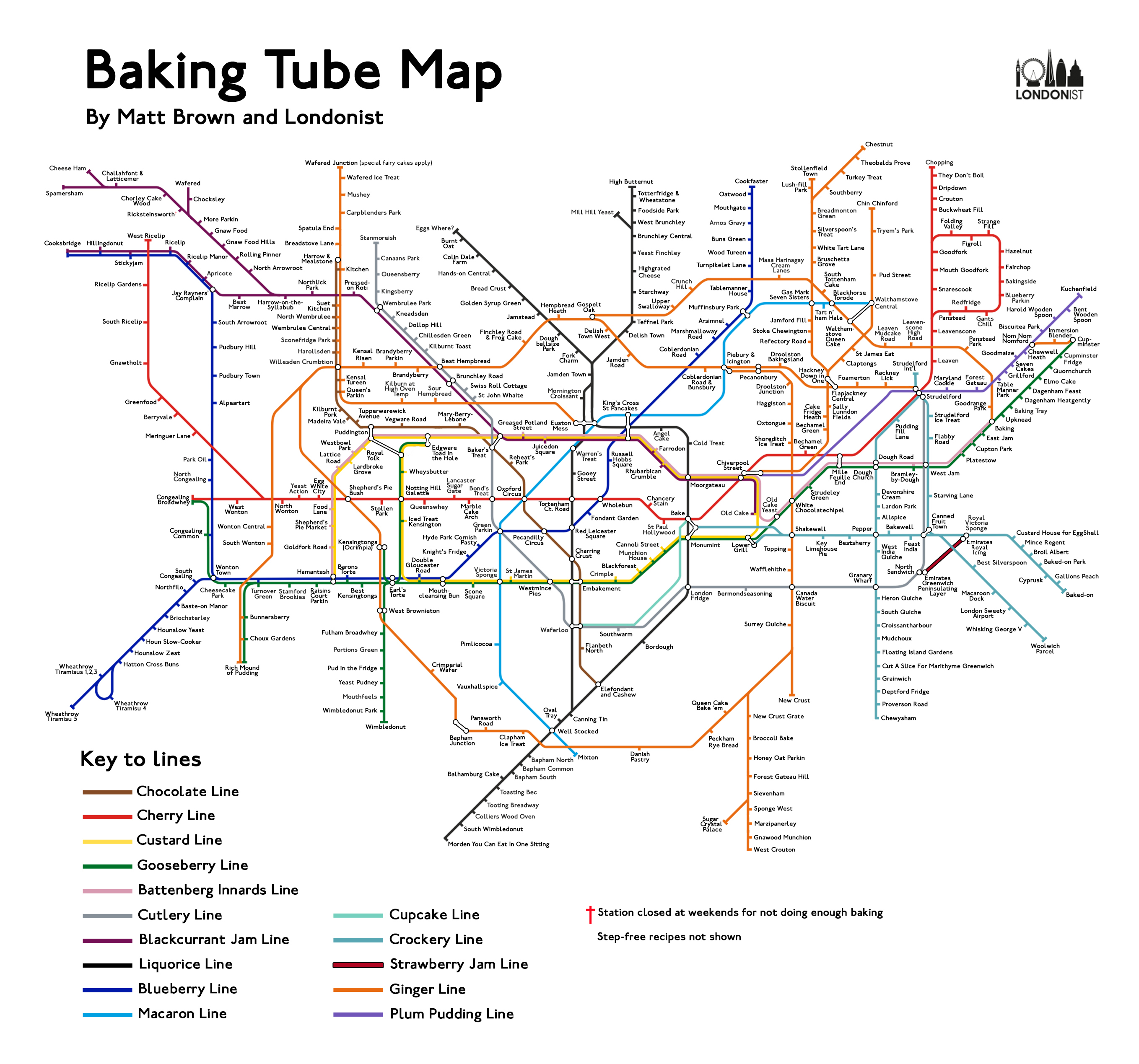 The Bakers Tube Map Londonist - Underground london map 2015