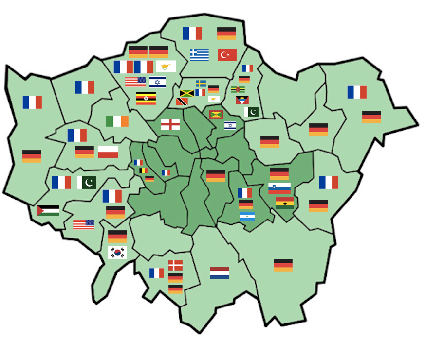 How Much Do You Know About Your Boroughs Twin Towns Londonist - London map of boroughs