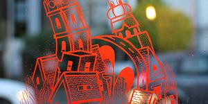 Brockley Window Art Shows Magical Urban Spaces