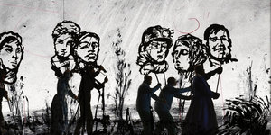 A Macabre Procession By William Kentridge