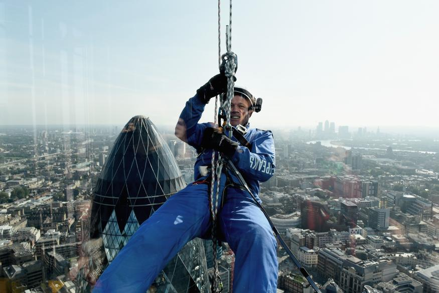 People Abseiled Down Three City Skyscrapers On Monday