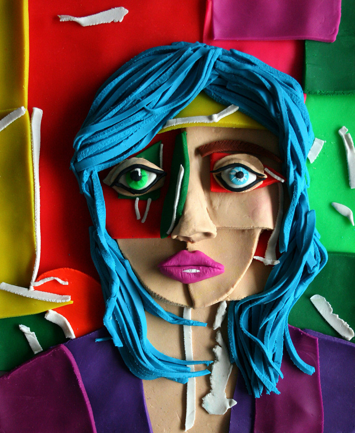Play-Doh Portrait Photographs By Eleanor Macnair