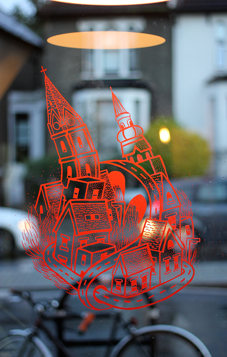 Brockley Window Art Shows Magical Urban Spaces
