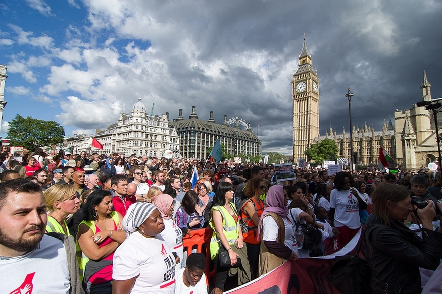 In Pictures: Saturday's Rally For Refugees