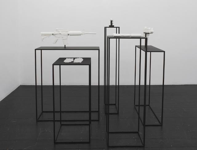 Installation view of Joanna Rajkowska's Painkillers II. (Photo courtesy L'Etrangere Gallery.)
