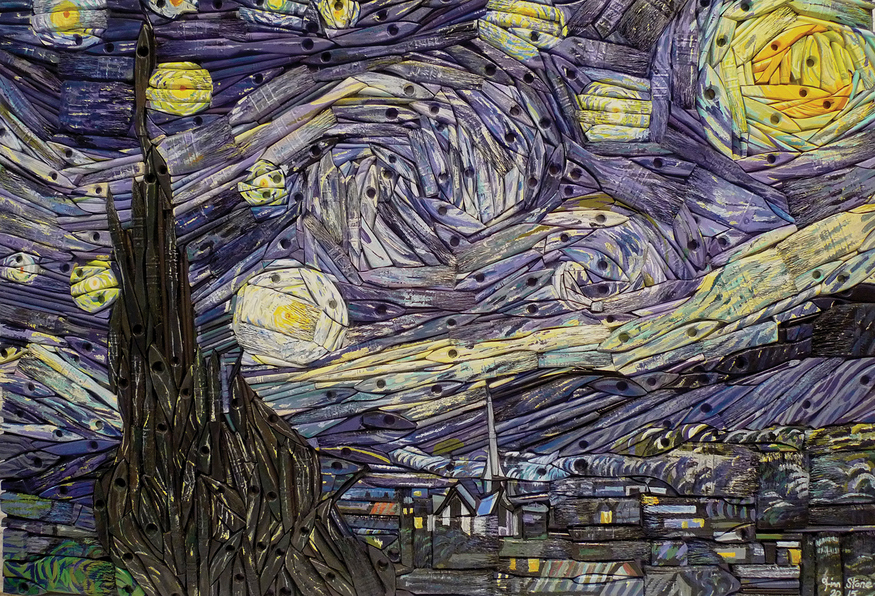 Famous Line Art Paintings : Paintings made from paintbrushes by finn stone londonist
