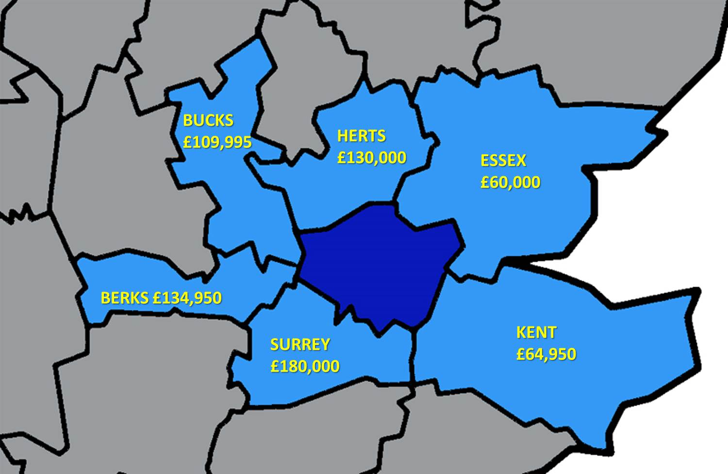 What is the average price of a three bedroom flat?