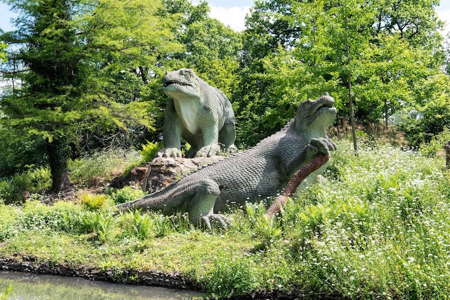 Image result for crystal palace dinosaurs
