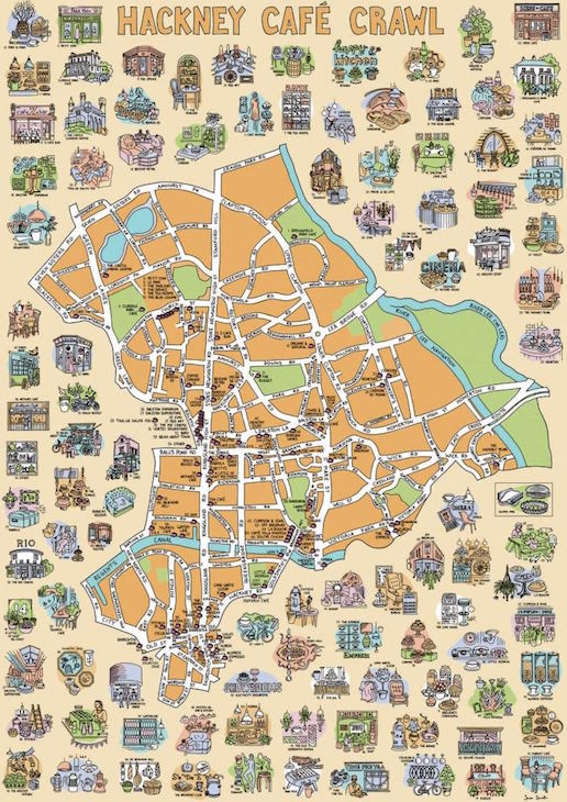 East And North London Brought To Life In Hand-Drawn Maps