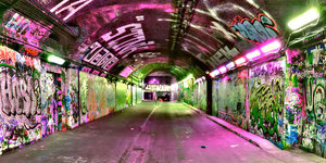 Play Crazy Golf In A Tunnel Beneath A Train Station