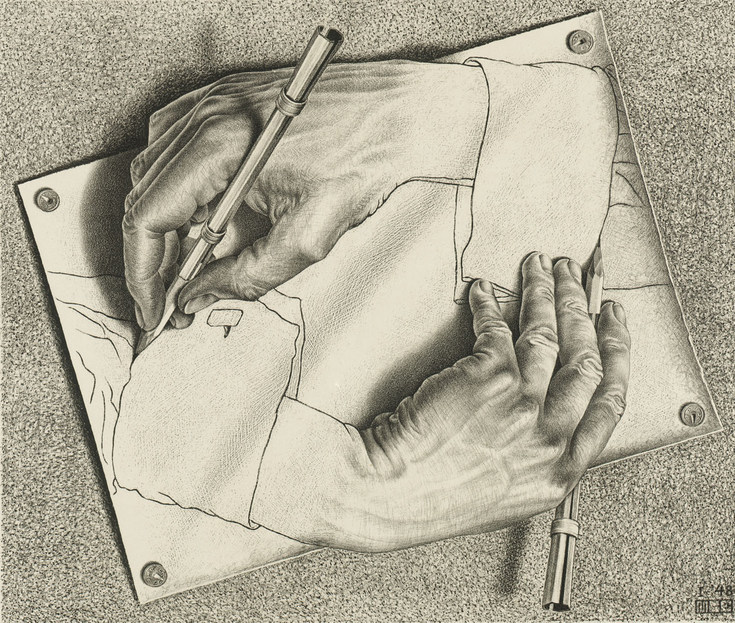 M.C. Escher Achieves The Impossible And So Much More