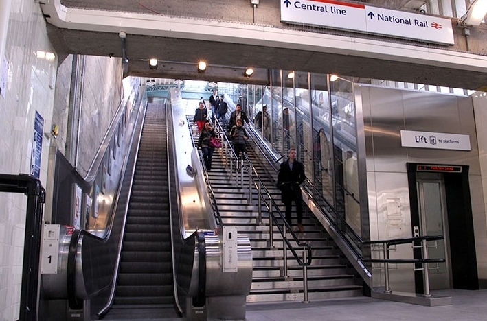 Which tube station has an inclinator instead of an escalator?