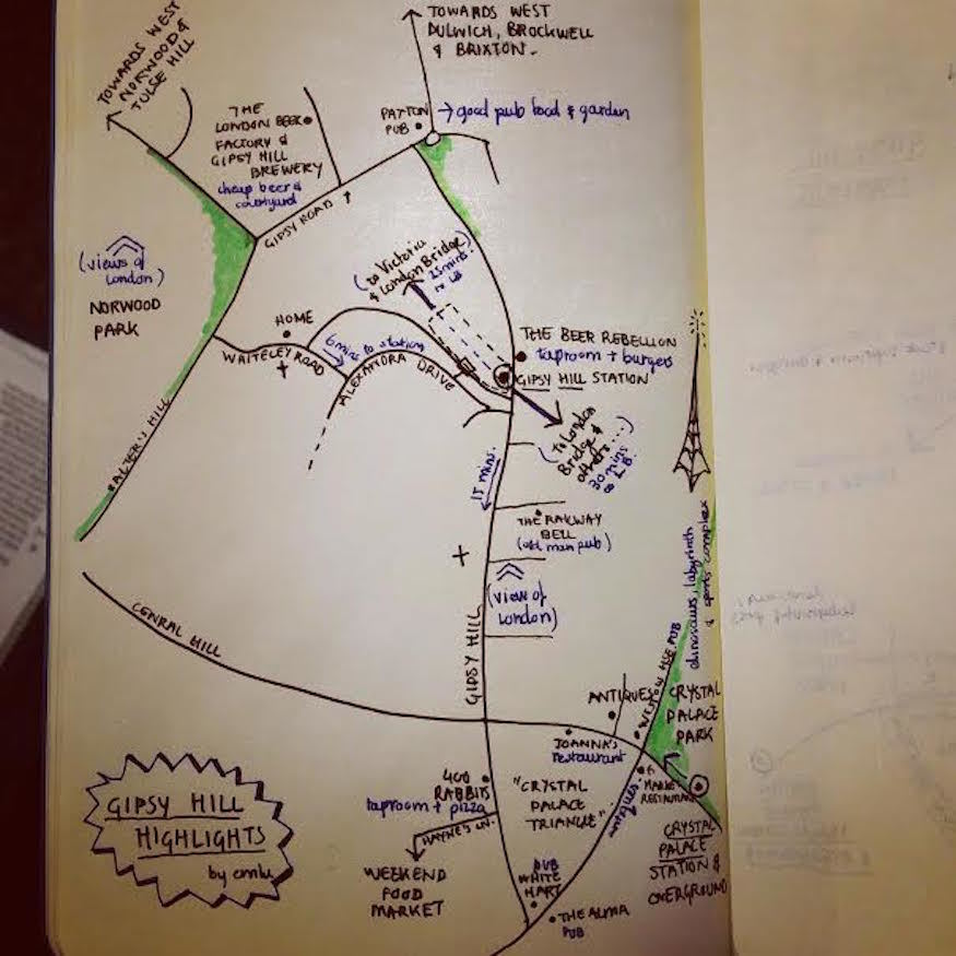 Gipsy Hill's Highlights, Mapped By Hand