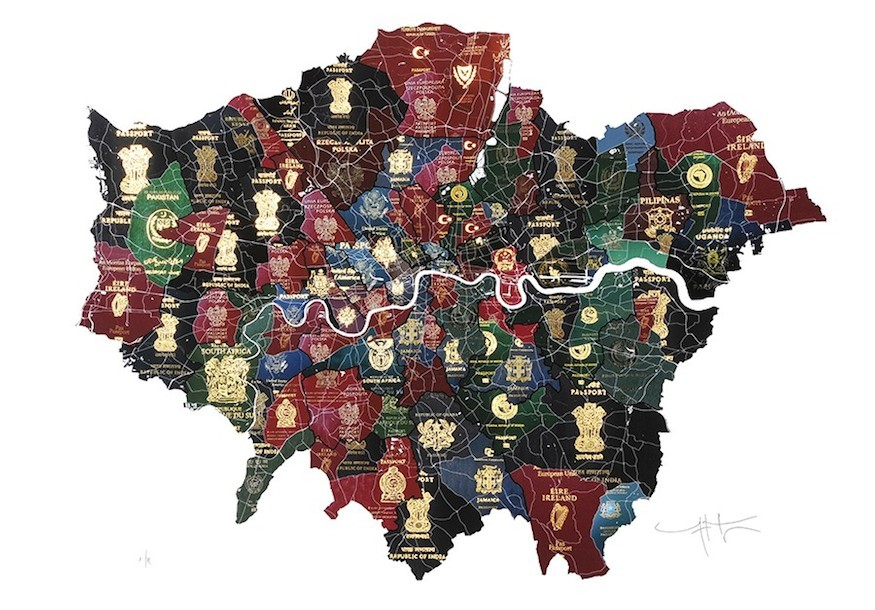 London Passport Map Shows City Diversity