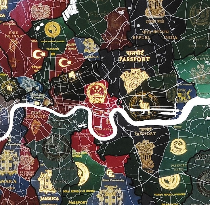 Lovely map of London showing non-British nationalities by borough