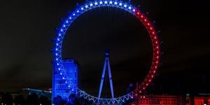 London's Landmarks Turn Tricolour For Paris