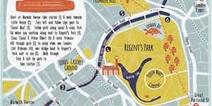 Wind Along Regent's Canal With This Hand-Drawn Map