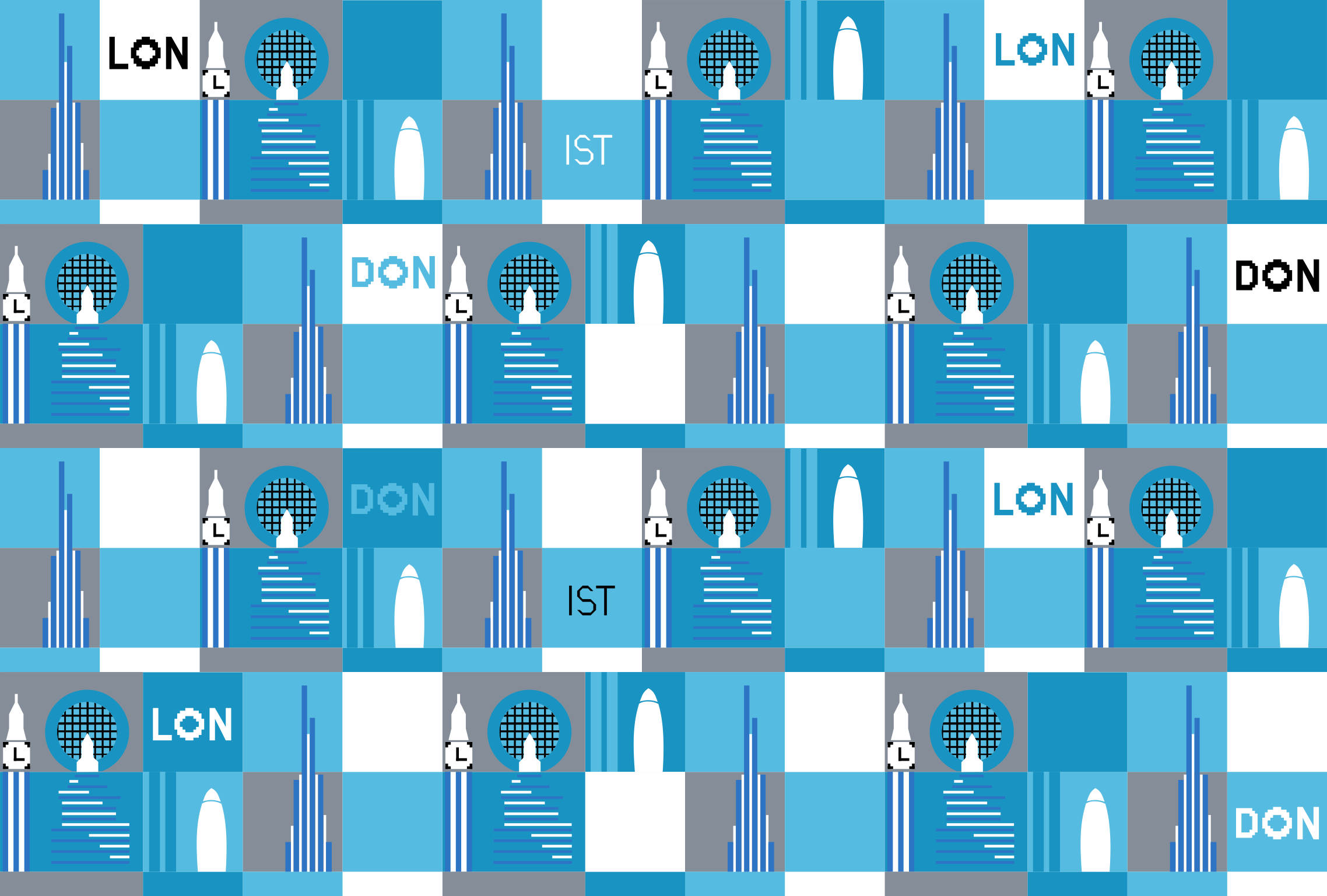 Video which 4 london landmarks feature in the tube for London underground moquette