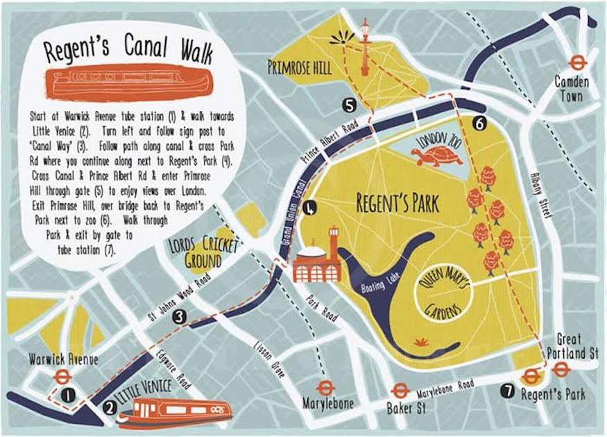 Wind Along Regents Canal With This HandDrawn Map Londonist