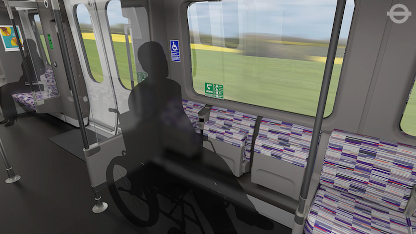 First look at crossrail train designs londonist for London underground moquette