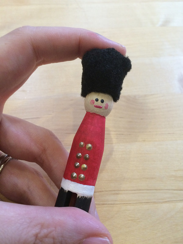 How To Make A London Soldier Peg Doll Christmas Decoration