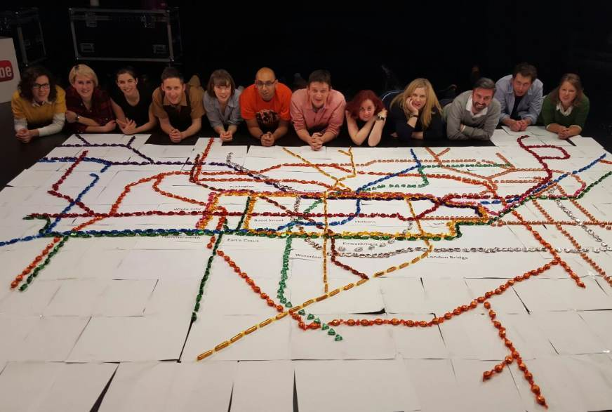 Video: A Giant Tube Map Made Out Of Quality Street