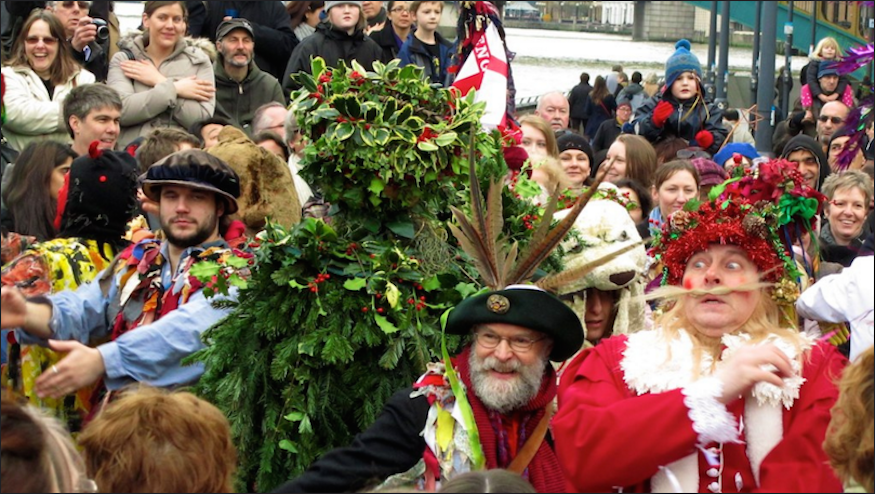The Holly Man Returns To Bankside To Mark The End Of Another Festive Season