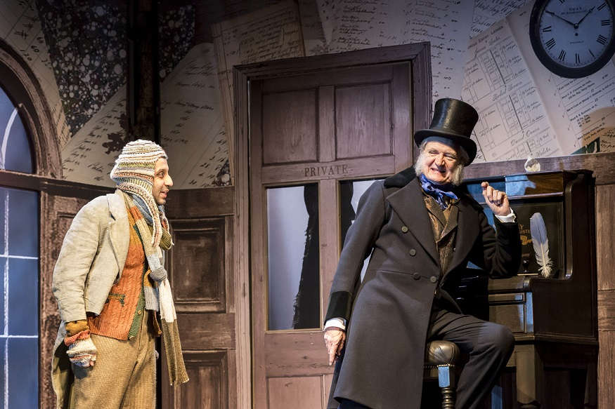 Christmas Carol Scrooge.Jim Broadbent Is A Loveable Scrooge In A Christmas Carol