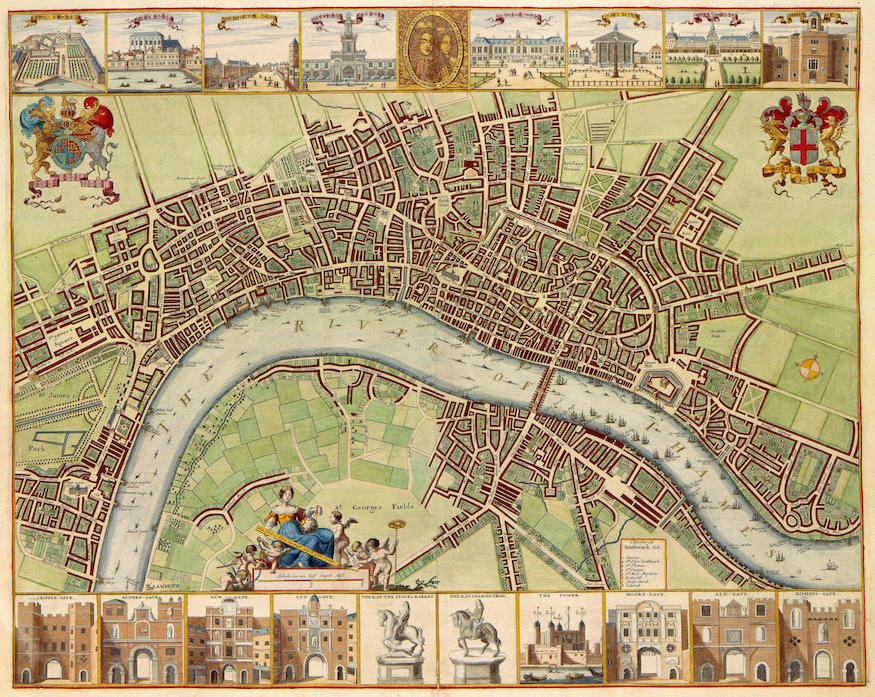 Londons entire history to be mapped by new project londonist 17th century map of london w hollar after 1688 gumiabroncs Gallery
