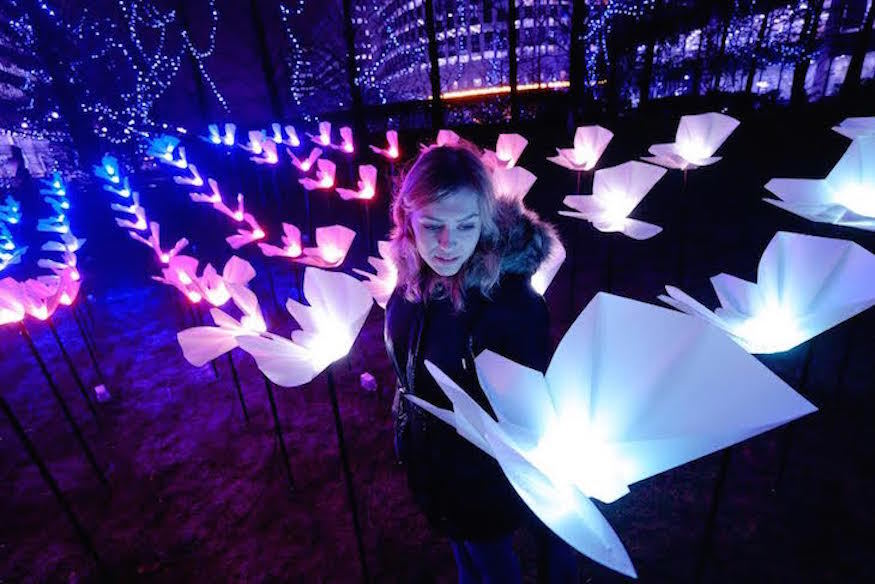 Butterflies And An Inflatable Alien Light Up Canary Wharf