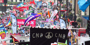 London News Roundup: Largest Anti-Nuclear Weapons March In A Generation