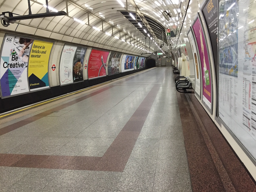 What's so special about the platforms at Angel and Euston stations?