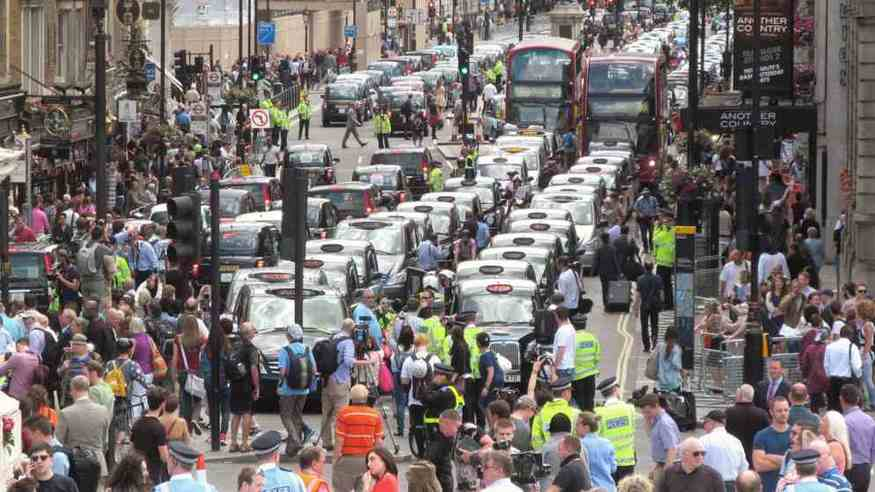5,000 Taxi Drivers To Protest Tomorrow In Central London