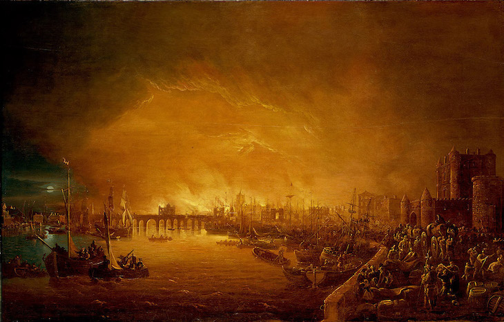 'There the Fyer began!' Origin of 1666 Great Fire of ... |Impressionist Fire London