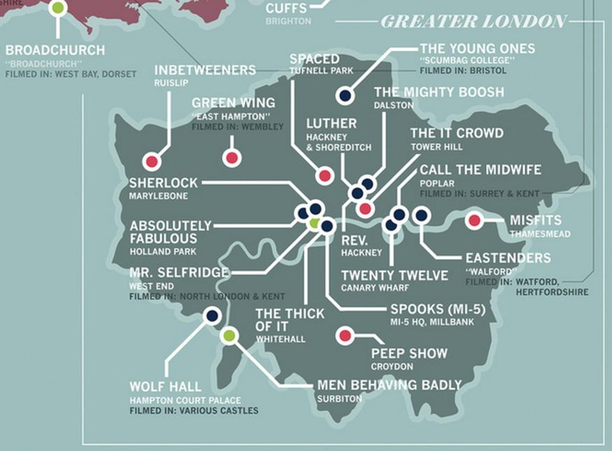 Check out this map of TV shows set in London