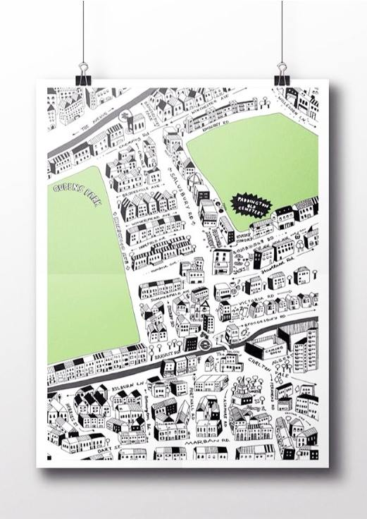 A Hand-Drawn Map Of Queen's Park | Londonist on