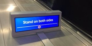 Video: Standing On The Right AND Left Of Holborn's Escalators