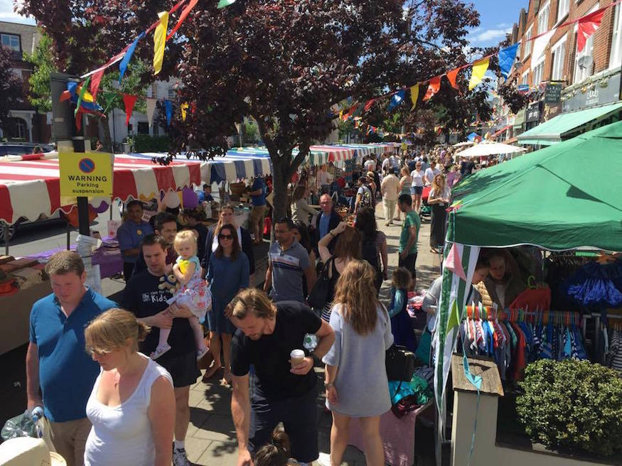 Road Closed To Traffic For South London Street Party